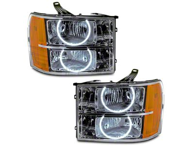 Chrome OE Style Headlights w/ Round Ring CCFL Halos (07-13 Sierra 1500)