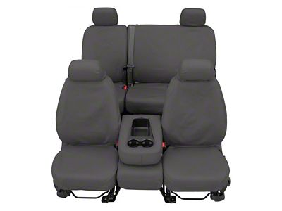 Covercraft Front Row SeatSaver Seat Covers - Polycotton Gray (07-18 Sierra 1500 w/ Bucket Seats)