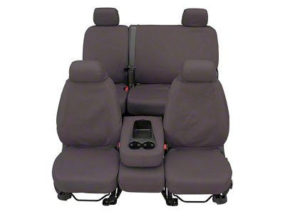 Covercraft SeatSaver Front Row Seat Covers - Polycotton Gray (07-18 Sierra 1500 w/ Bench Seat)