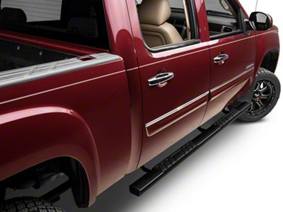 Barricade T4 Rocker Mount Side Step Bars - Black (07-13 Sierra 1500 Extended Cab, Crew Cab)