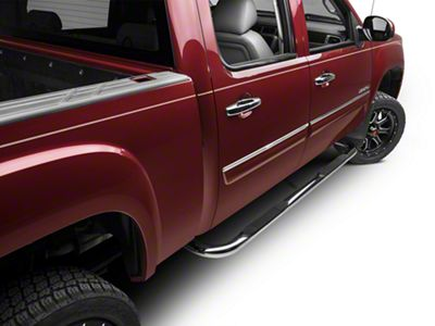 Barricade 3 in. Body Mount Side Step Bars - Stainless Steel (07-13 Sierra 1500)