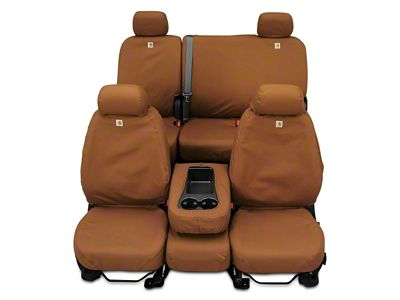 Covercraft Carhartt SeatSaver Second Row Seat Cover - Brown (07-13 Sierra 1500 Extended Cab, Crew Cab)