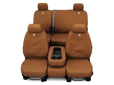 Covercraft Carhartt SeatSaver Second Row Seat Cover - Brown (14-18 Sierra 1500 Double Cab, Crew Cab)