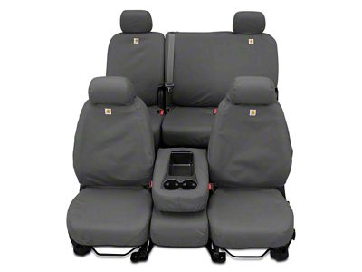 Covercraft Second Row SeatSaver Seat Cover - Waterproof Gray (14-18 Sierra 1500 Double Cab, Crew Cab)
