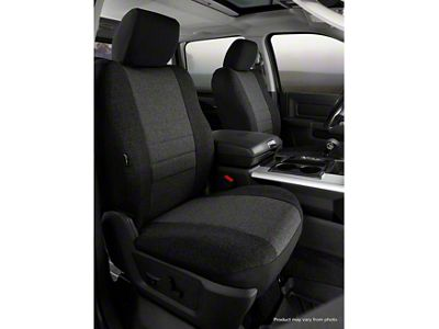 Fia Custom Fit Tweed Front Seat Covers - Charcoal (07-13 Sierra 1500 w/ Bucket Seats)