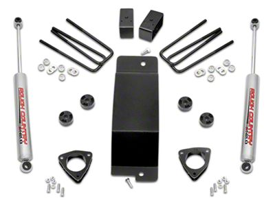Rough Country 3.5 in. Suspension Lift Kit w/o Upper Control Arms (07-18 4WD Sierra 1500 w/ Stock Cast Steel Control Arms)