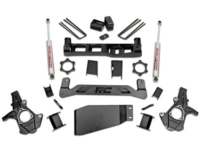 Rough Country 5 in. Suspension Lift Kit w/ Shocks (07-13 4WD Sierra 1500)
