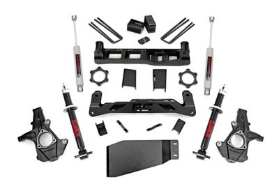 Rough Country 5 in. Suspension Lift Kit w/ Shocks & Struts (07-13 4WD Sierra 1500)