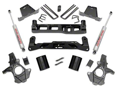Rough Country 7.5 in. Suspension Lift Kit w/ Shocks (14-18 2WD Sierra 1500 w/ Stock Cast Steel or Aluminum Control Arms, Excluding Denali)