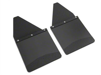 Husky 12 in. Wide KickBack Mud Flaps - Textured Black Top & Weight (07-18 Sierra 1500)