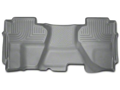 Husky WeatherBeater 2nd Seat Floor Liner - Full Coverage - Gray (07-13 Sierra 1500 Extended Cab, Crew Cab)