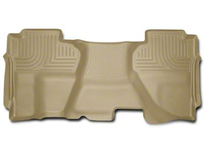 Husky WeatherBeater 2nd Seat Floor Liner - Full Coverage - Tan (07-13 Sierra 1500 Extended Cab, Crew Cab)