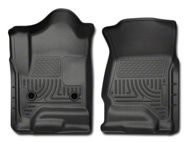 Husky WeatherBeater Front Floor Liners - Black (14-18 Sierra 1500)