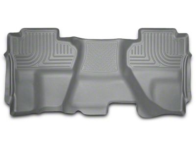 Husky WeatherBeater 2nd Seat Floor Liner - Full Coverage - Gray (14-18 Sierra 1500 Double Cab, Crew Cab)