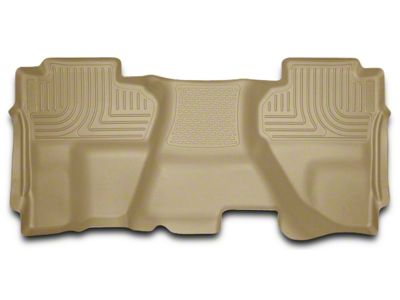 Husky WeatherBeater 2nd Seat Floor Liner - Full Coverage - Tan (14-18 Sierra 1500 Double Cab, Crew Cab)
