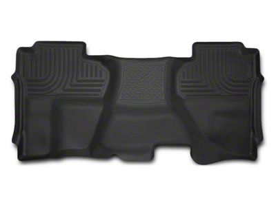 Husky X-Act Contour 2nd Seat Floor Liner - Full Coverage - Black (14-18 Sierra 1500 Double Cab, Crew Cab)