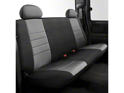 Fia Custom Fit Neoprene Rear Seat Cover - Gray (07-13 Sierra 1500 Extended Cab, Crew Cab)