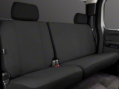 Fia Custom Fit Poly-Cotton Rear Seat Cover - Black (14-18 Sierra 1500 Double Cab, Crew Cab)