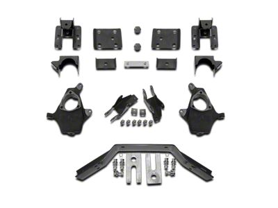 Max Trac Lowering Kit - 2 in. Front / 4 in. Rear (14-18 2WD/4WD Sierra 1500 w/ Stock Cast Control Arms, Excluding Denali)