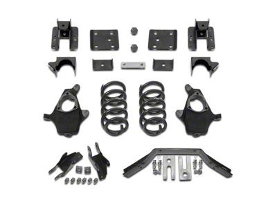 Max Trac Lowering Kit - 4 in. Front / 6 in. Rear (14-Early 16 Sierra 1500 w/ Stock Cast Steel Control Arms, Excluding Denali)