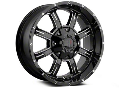 Havok Off-Road H101 Black Milled 6-Lug Wheel - 20x9 (07-18 Sierra 1500)