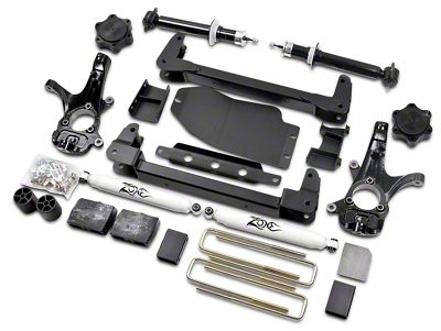 Zone Offroad 4.5 in. IFS Suspension Lift Kit w/ Shocks (07-13 4WD Sierra 1500, Excluding Hybrid)