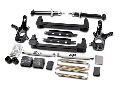 Zone Offroad 4.5 in. IFS Suspension Lift Kit w/ Shocks (07-13 2WD Sierra 1500)