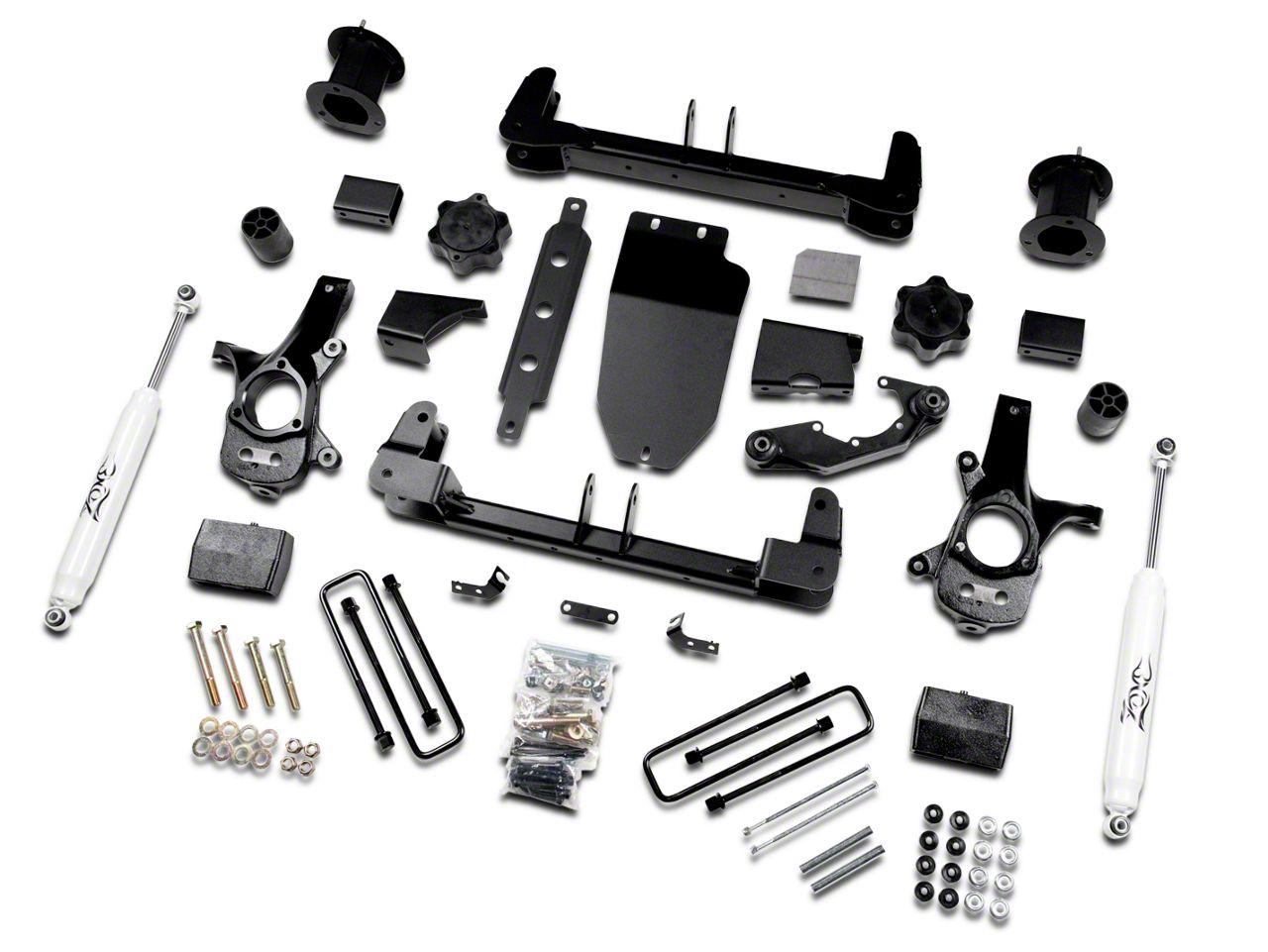 Zone Offroad 4.5 in. Suspension Lift Kit w/ Shocks (14-18 4WD Sierra 1500, Excluding Denali)