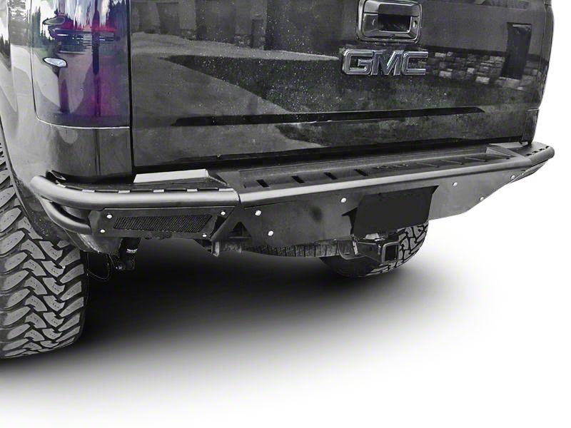 N-Fab R.B.S. Pre-Runner Rear Bumper w/ Skid Plate - Textured Black (07-13 Sierra 1500)