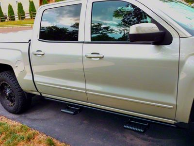 N-Fab Cab Length RKR Side Rails - Textured Black (14-18 Sierra 1500 Crew Cab)