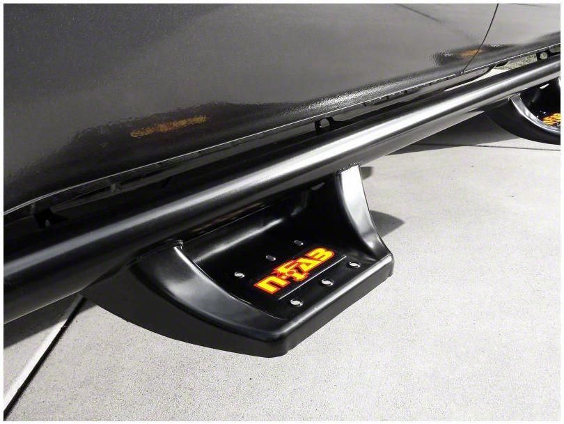 N-Fab Wheel 2 Wheel N-Durastep Side Step Bars - Semi-Gloss Black (07-13 Sierra 1500 Extended Cab w/ Standard Box, Crew Cab)