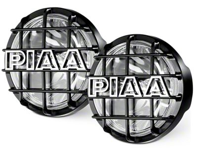 PIAA 520 Series 6 in. Round SMR Xtreme White Halogen Lights - Driving Beam - Pair (07-18 Sierra 1500)