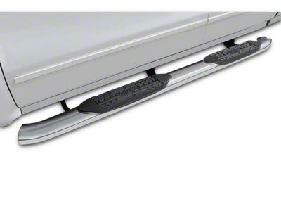 Raptor Series 5 in. OE Style Curved Oval Rocker Mount Side Step Bars - Polished Stainless (07-13 Sierra 1500)
