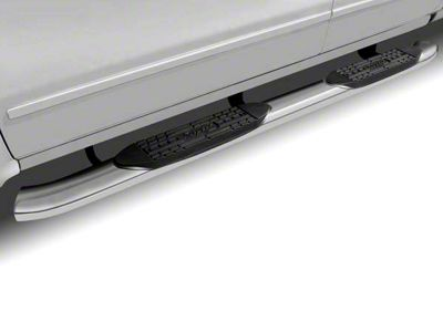 Raptor Series 5 in. OE Style Curved Oval Rocker Mount Side Step Bars - Polished Stainless (14-18 Sierra 1500)