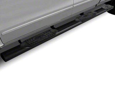 Raptor Series 6 in. Oval Wheel to Wheel Body Mount Side Step Bars - Black (14-18 Sierra 1500 Double Cab & Crew Cab w/ Standard Box)