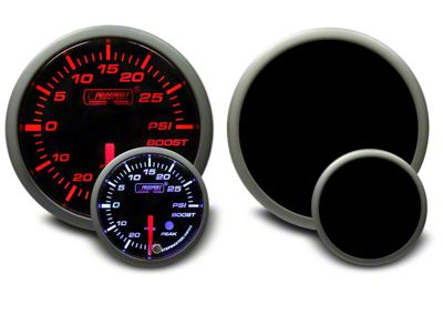 Prosport Dual Color 30 PSI Boost/Vac Gauge - Electrical - Amber/White (07-18 Sierra 1500)