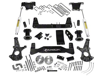SuperLift 6.5 in. Suspension Lift Kit w/ Superide Rear Shocks (07-13 4WD Sierra 1500)