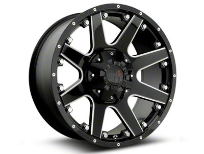Havok Off-Road H102 Black Milled 6-Lug Wheel - 20x9 (07-18 Sierra 1500)