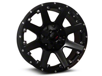 Havok Off-Road H102 Matte Black 6-Lug Wheel - 20x9 (07-18 Sierra 1500)