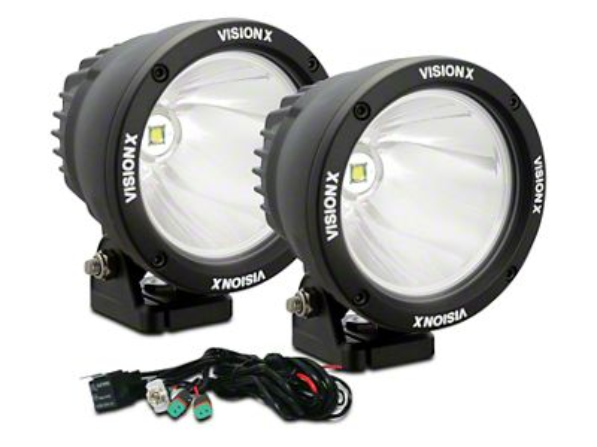 Vision X 4.5 in. LED Cannon - 1,000 ft. Range - Spot Beam - Pair