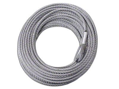 Rugged Ridge 8,500 lb. Winch Replacement Steel Cable - 5/16 in. x 94 ft.