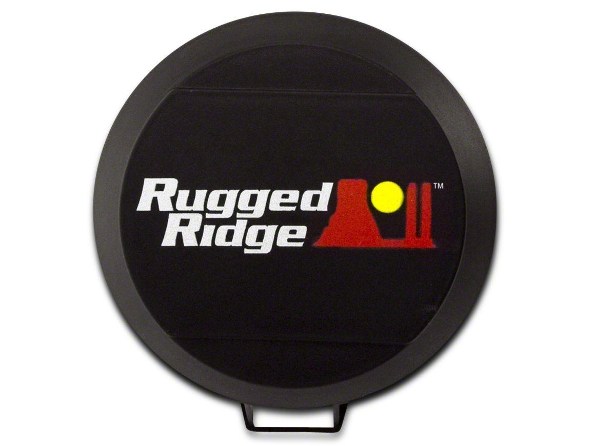 Rugged Ridge 5 in. HID Off-Road Light Cover - Black (07-18 Sierra 1500)