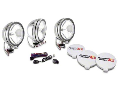 Rugged Ridge 6 in. Halogen Fog Lights - Stainless Steel - Set of Three