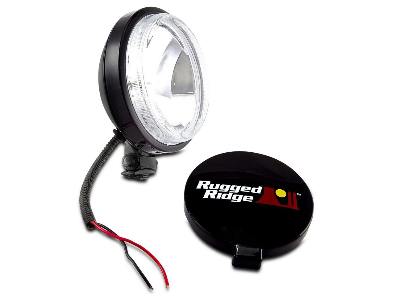 Rugged Ridge 6 in. Slim Halogen Fog Light - Single