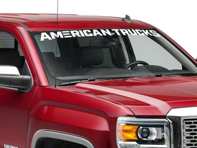 AmericanTrucks Windshield Banner - White (07-19 Sierra 1500)