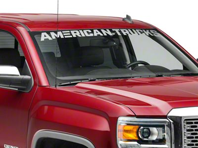 AmericanTrucks Windshield Banner - Frosted (07-19 Sierra 1500)