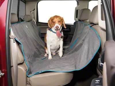 Heather Pattern Dog Hammock - Charcoal (07-18 Sierra 1500 Extended/Double Cab, Crew Cab)