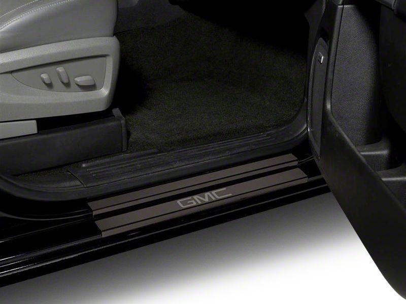 Putco Black Platinum Door Sills w/ GMC Logo (14-18 Sierra 1500 Regular Cab, Crew Cab)