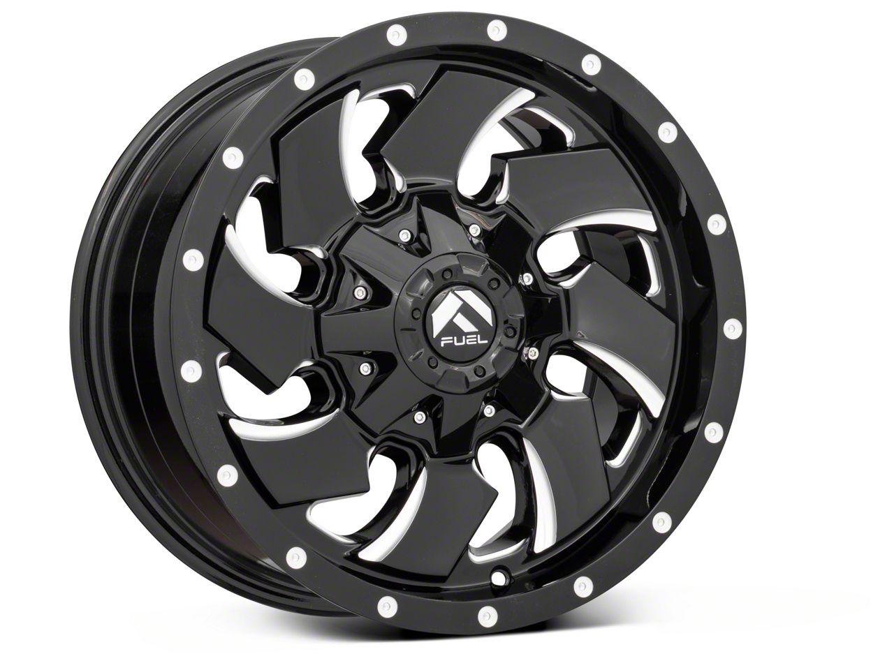 Fuel Wheels Cleaver Black Milled 6-Lug Wheel - 22x10 (07-18 Sierra 1500)