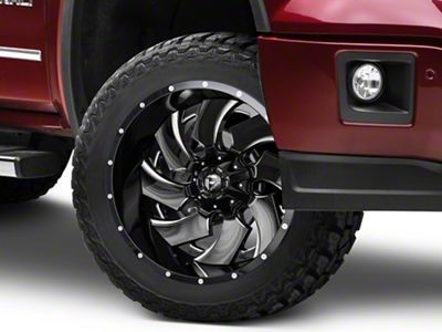 Fuel Wheels Cleaver Black Milled 6-Lug Wheel - 22x12 (07-18 Sierra 1500)